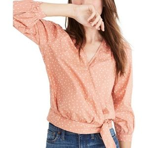 Madewell Apricot Wrap Star Blouse